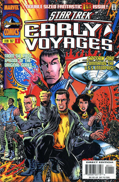 Star Trek Early Voyages Comic Book Back Issues by A1 Comix