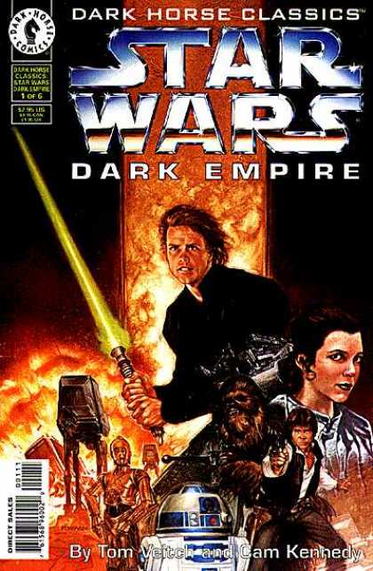 Star Wars Dark Empire Comic Book Back Issues by A1 Comix