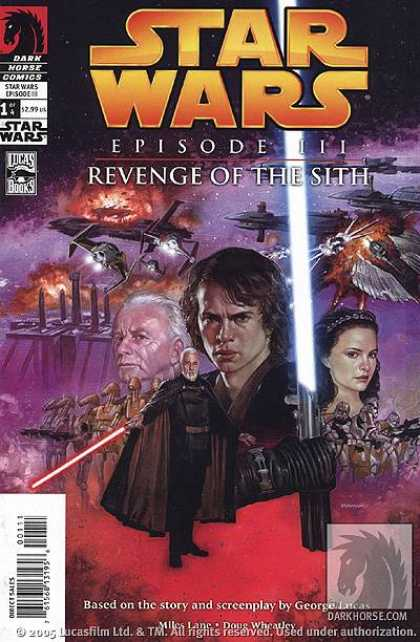 Star Wars Revenge of the Sith Comic Book Back Issues by A1 Comix
