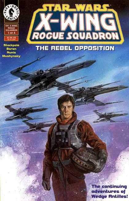 Star Wars X-Wing Rogue Squadron comic book back issue comicbook back copy