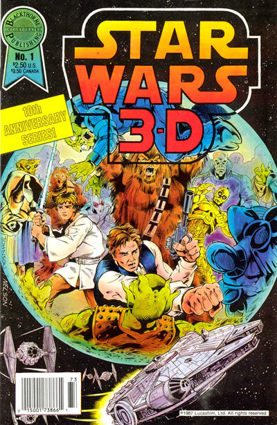 Star Wars 3-D Comic Book Back Issues by A1 Comix