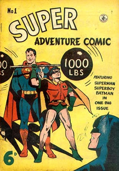 Super Adventure Comic Comic Book Back Issues by A1 Comix