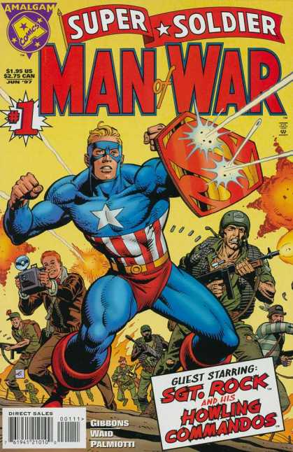 Super Soldier Man of War Comic Book Back Issues of Superheroes by A1Comix