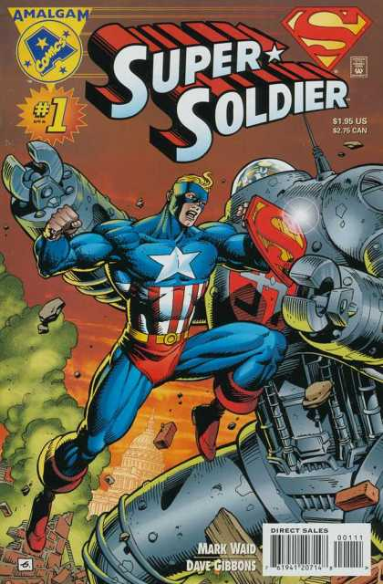 Super Soldier Comic Book Back Issues by A1 Comix