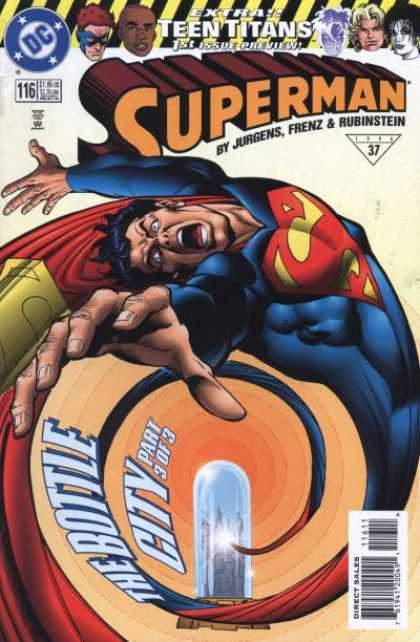 Superman Vol. 2 comic book back issue comicbook back copy