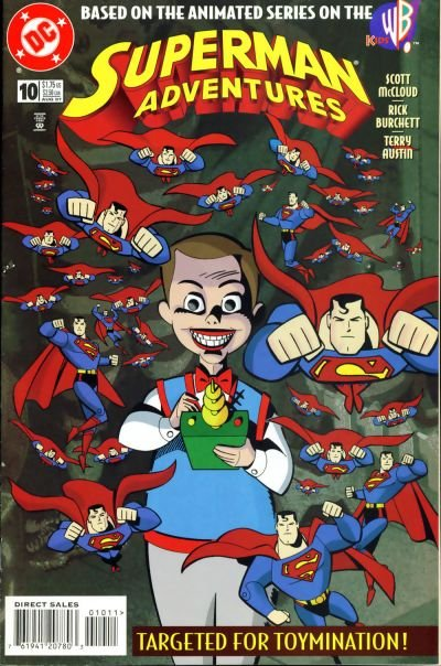 Superman Adventures comic book back issue comicbook back copy