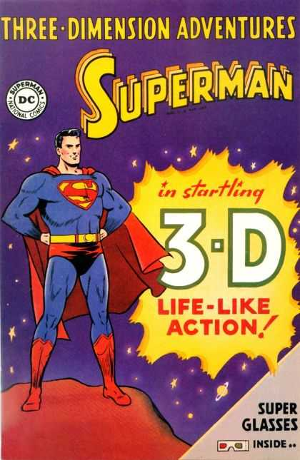 Superman in Startling 3D Comic Book Back Issues of Superheroes by A1Comix