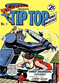 Superman Presents Tip Top Comic Book Back Issues of Superheroes by A1Comix