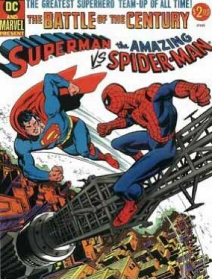Superman vs the Amazing Spiderman Comic Book Back Issues by A1 Comix