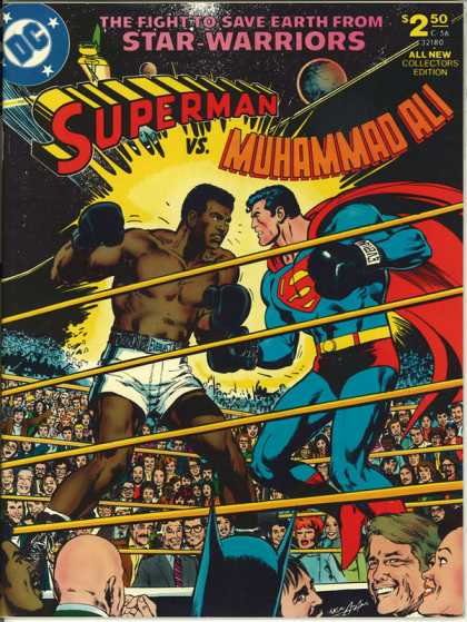 Superman vs Muhammad Ali Comic Book Back Issues by A1 Comix