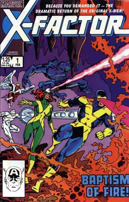 X-Factor Comic Book Back Issues by A1 Comix
