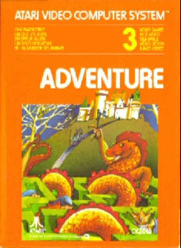 Adventure (1979 Video Game) Video Game Back Title by WonderClub