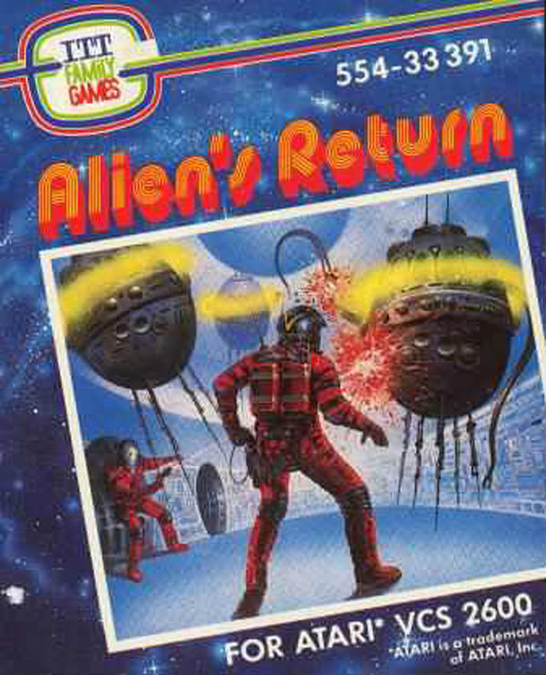 Alien's Return Video Game Back Title by WonderClub