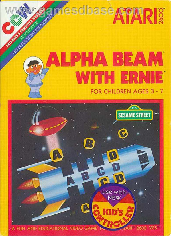 Alpha Beam With Ernie Video Game Back Title by WonderClub