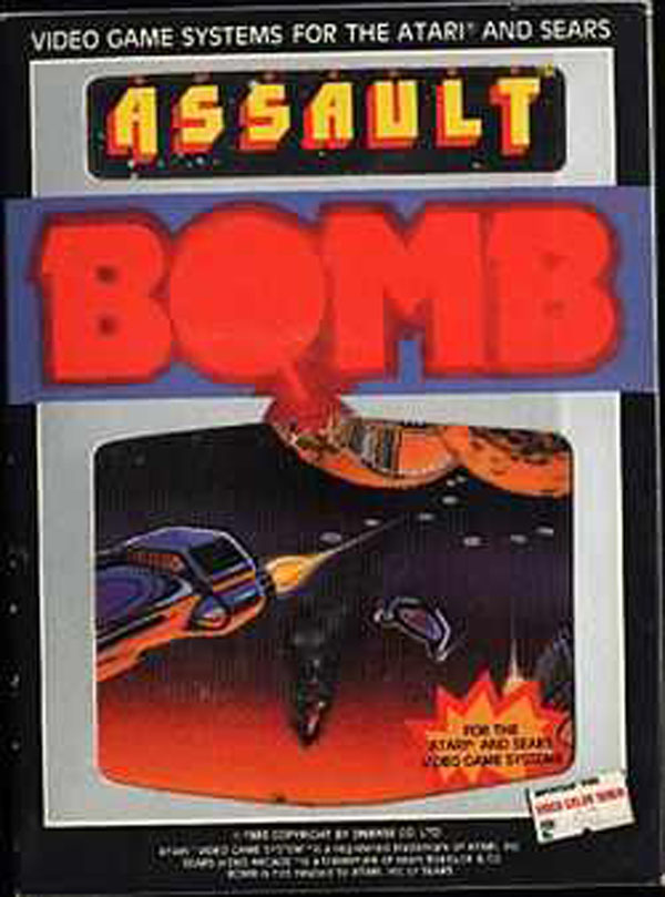 Assault (1983 Video Game) Video Game Back Title by WonderClub