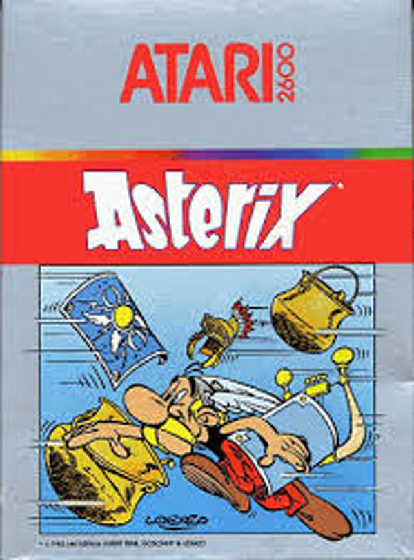 Asterix (1983 Video Game) Video Game Back Title by WonderClub