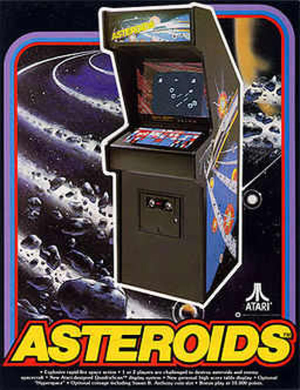 Asteroids Video Game Back Title by WonderClub