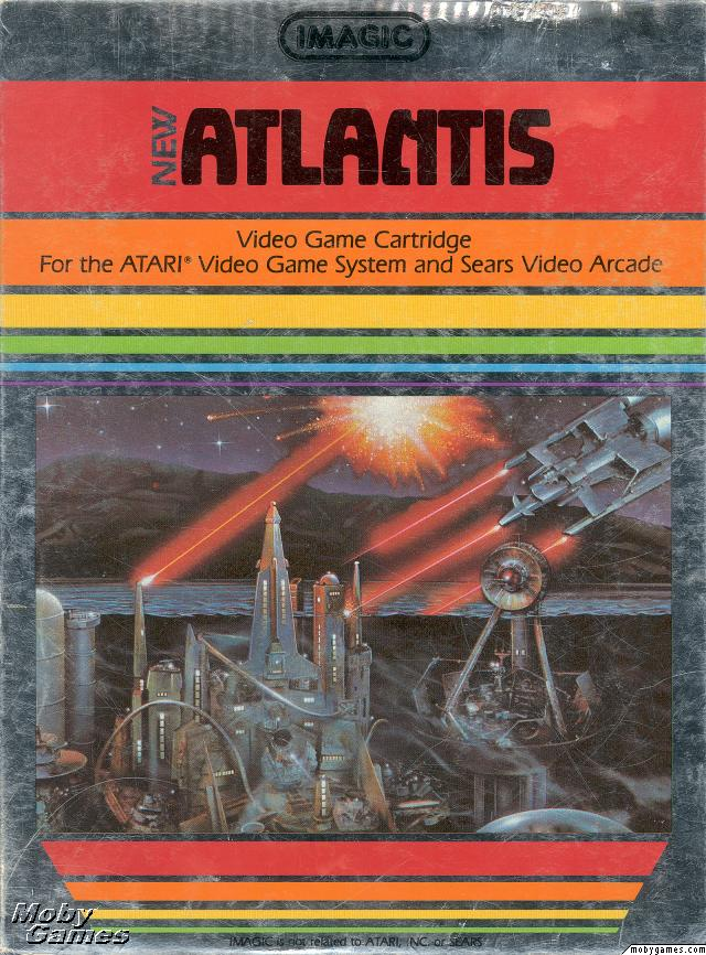 Atlantis (video Game) Video Game Back Title by WonderClub