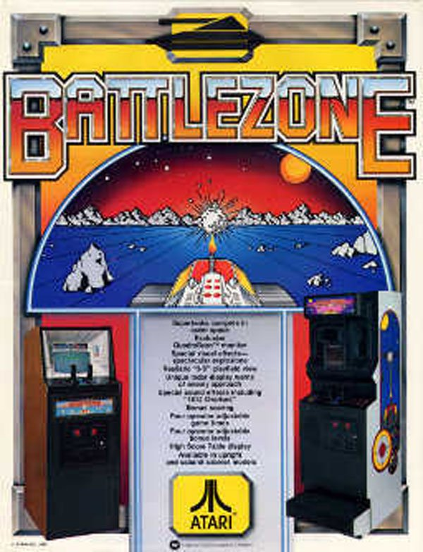 Battlezone (1980 Video Game) Video Game Back Title by WonderClub