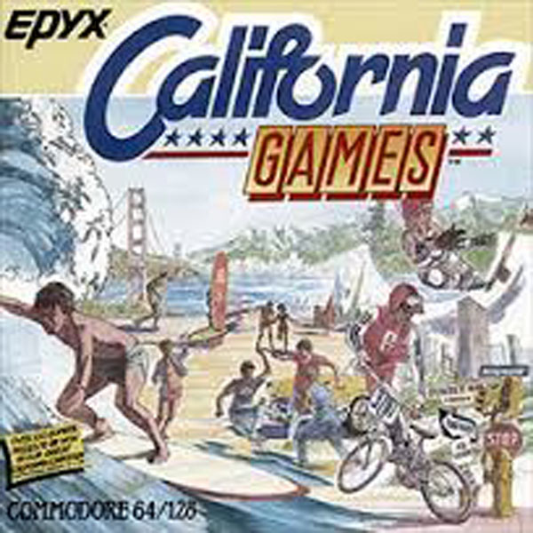 California Games Video Game Back Title by WonderClub