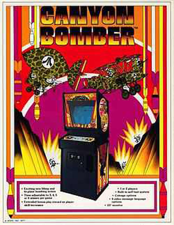 Canyon Bomber Video Game Back Title by WonderClub
