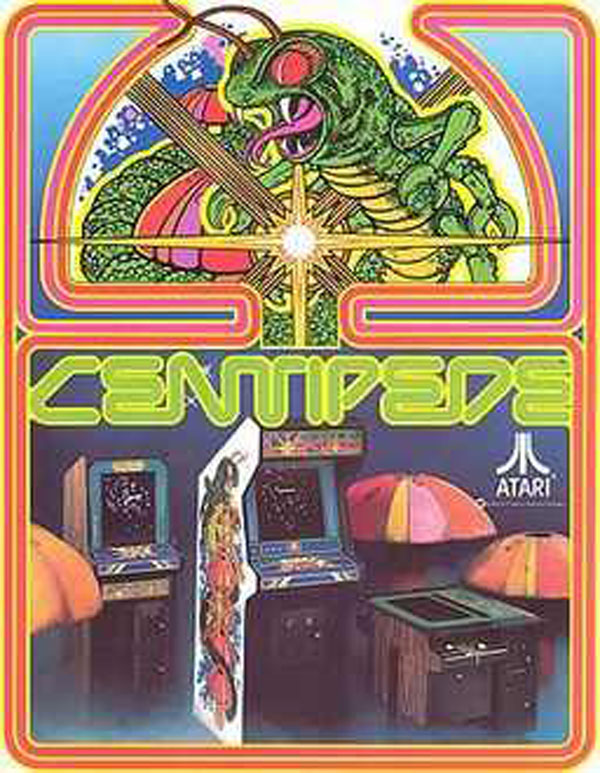 Centipede (video Game) Video Game Back Title by WonderClub