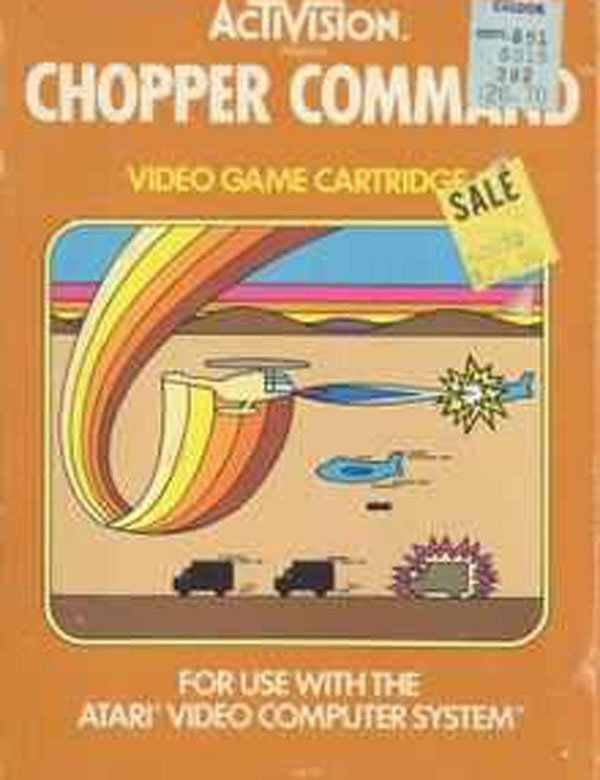 Chopper Command Video Game Back Title by WonderClub