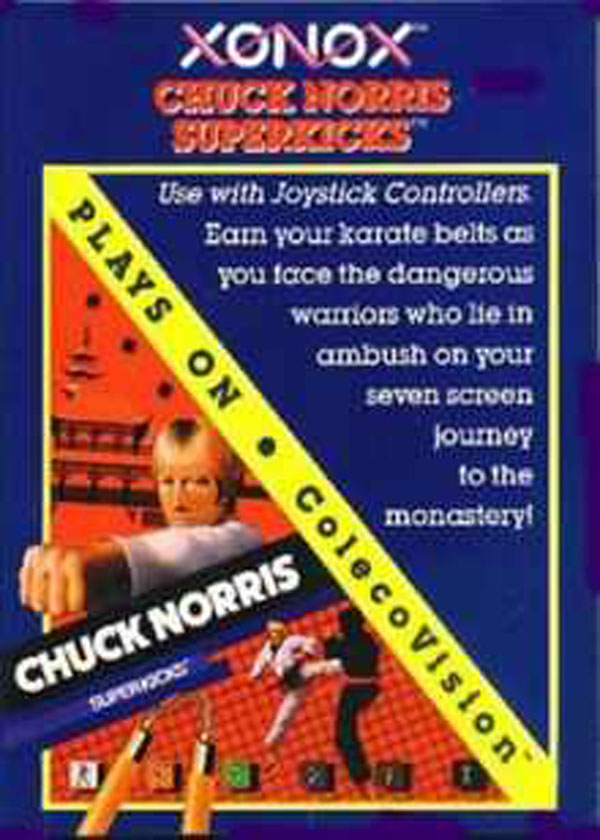 Chuck Norris Superkicks Video Game Back Title by WonderClub