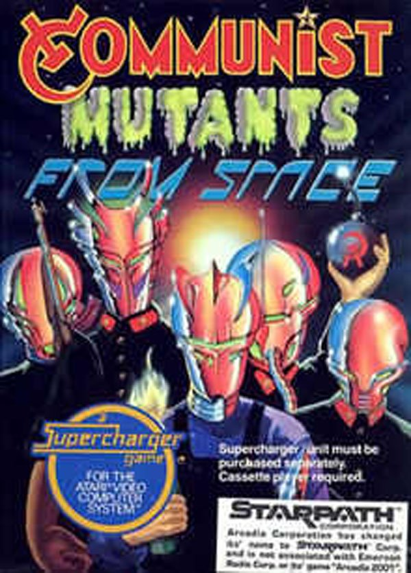 Communist Mutants From Space Video Game Back Title by WonderClub