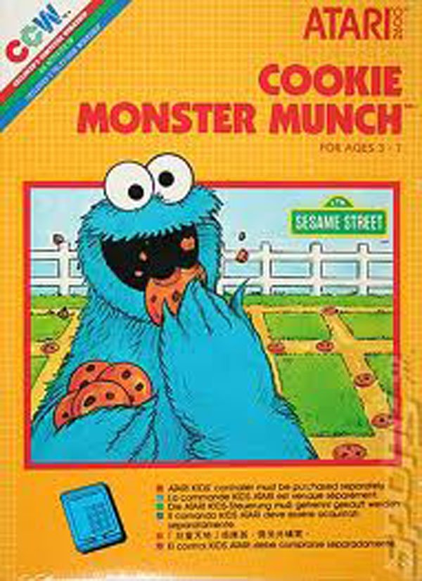 Cookie Monster Munch Video Game Back Title by WonderClub