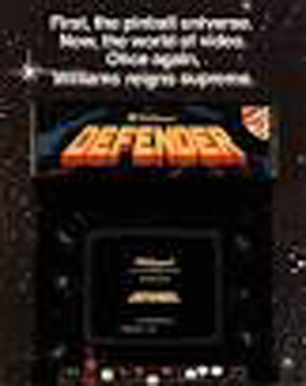Defender (video Game) Video Game Back Title by WonderClub