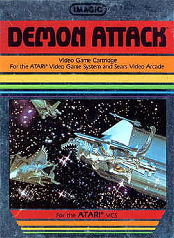 Demon Attack Video Game Back Title by WonderClub