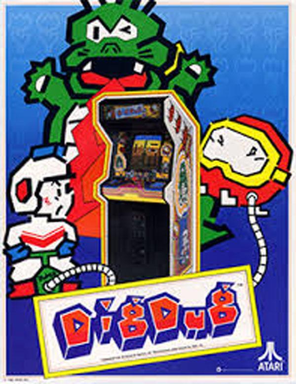 Dig Dug Video Game Back Title by WonderClub