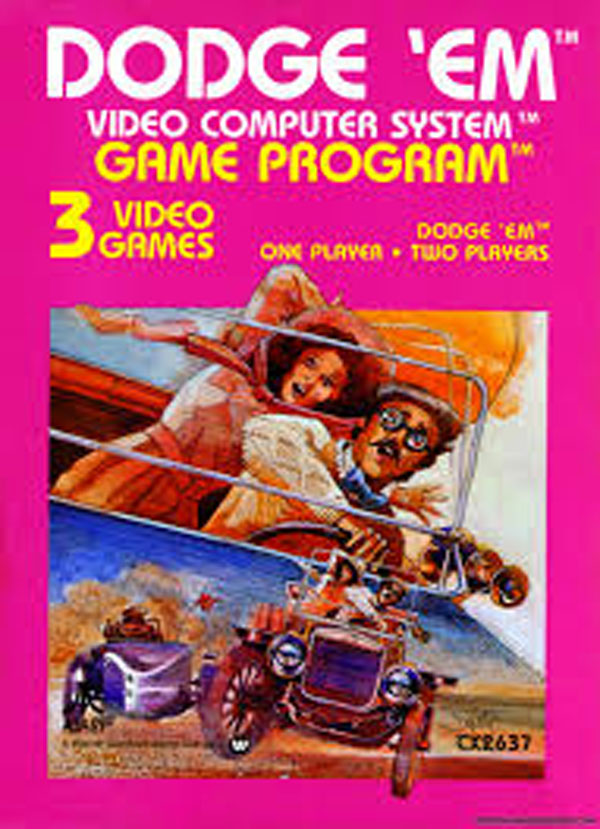 Dodge 'Em Video Game Back Title by WonderClub