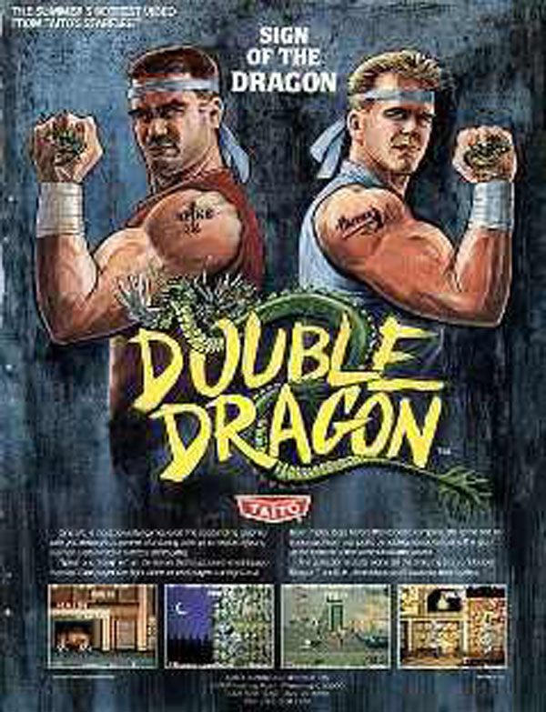 Double Dragon Video Game Back Title by WonderClub