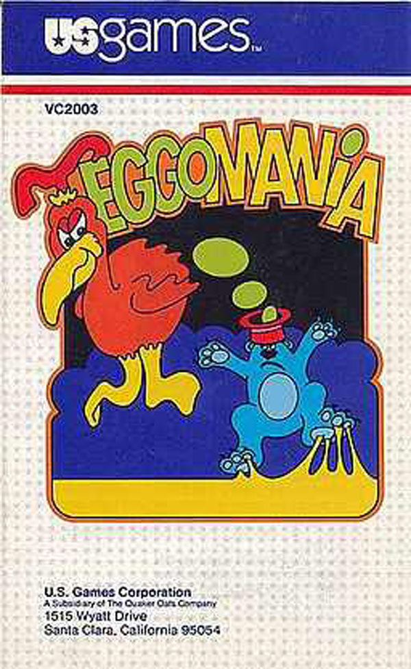 Eggomania Video Game Back Title by WonderClub