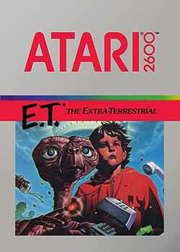 E.T. The Extra-Terrestrial (video Game) Video Game Back Title by WonderClub
