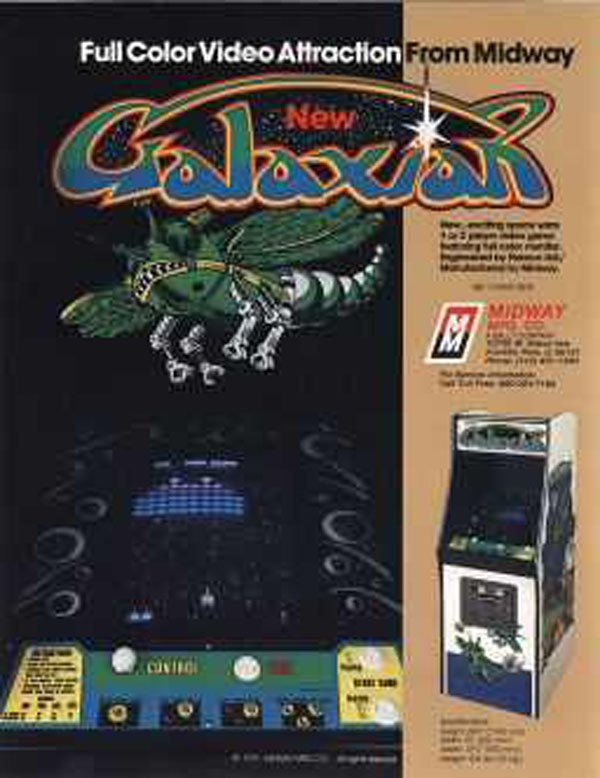 Galaxian Video Game Back Title by WonderClub