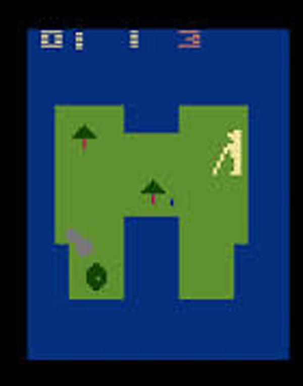 Golf (Atari 2600) Video Game Back Title by WonderClub