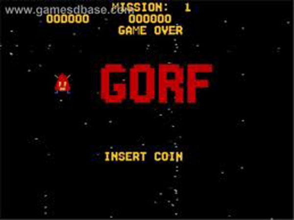 Gorf Video Game Back Title by WonderClub