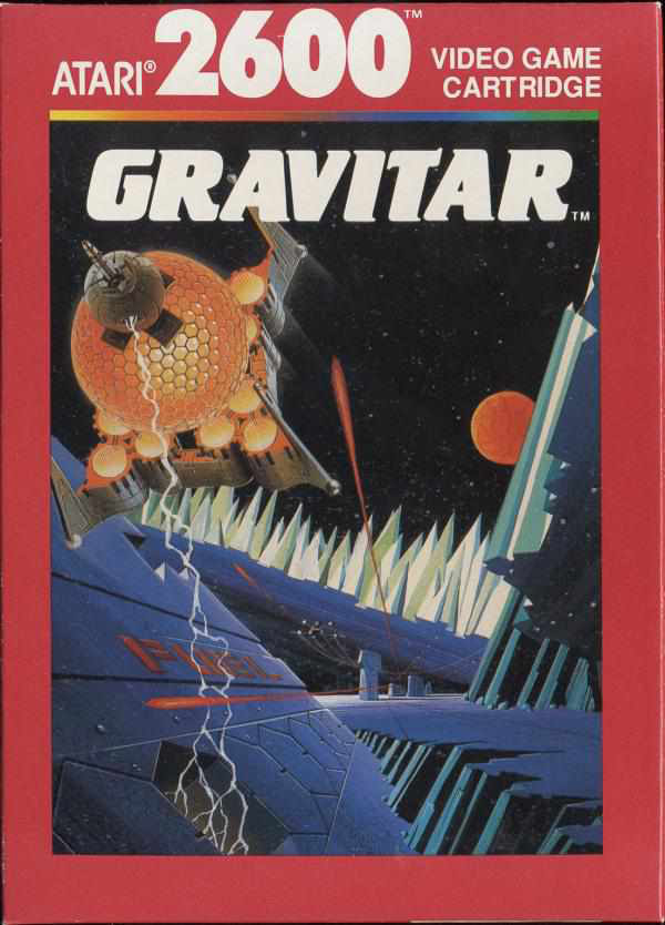 Gravitar Video Game Back Title by WonderClub