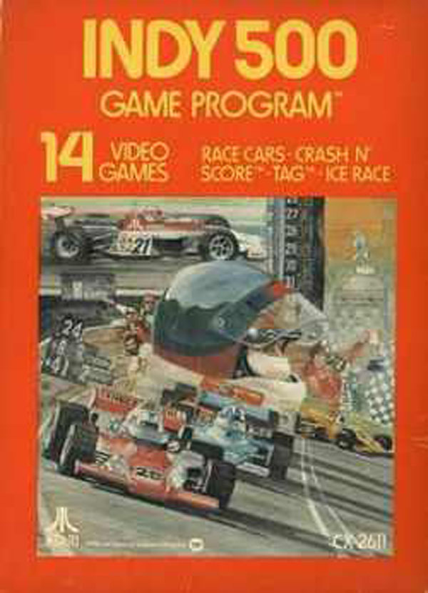 Indy 500 (1977 Video Game) Video Game Back Title by WonderClub