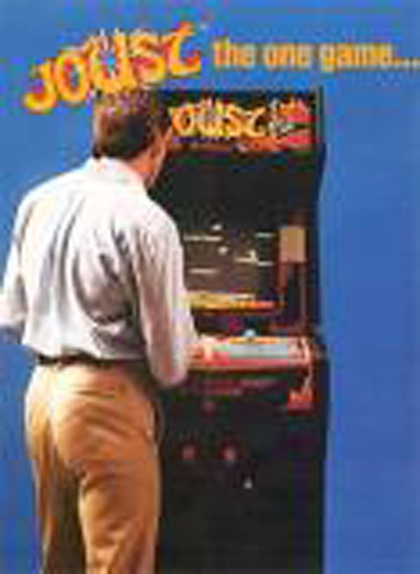 Joust (video Game) Video Game Back Title by WonderClub