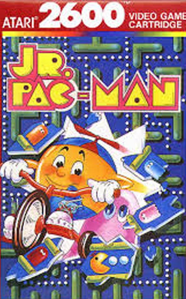 Jr. Pac-Man Video Game Back Title by WonderClub