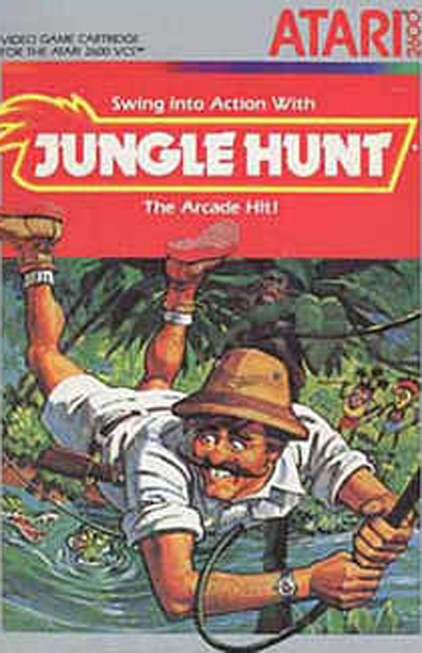 Jungle Hunt Video Game Back Title by WonderClub