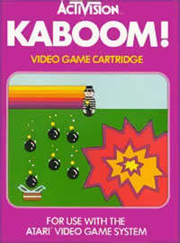 Kaboom! (video Game) Video Game Back Title by WonderClub