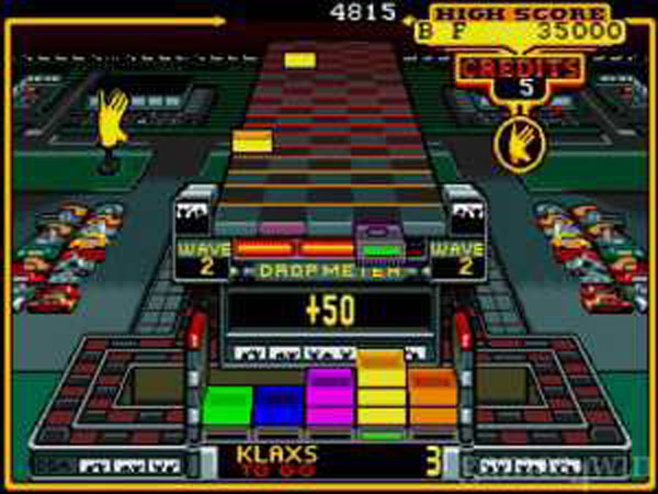 Klax (video Game) Video Game Back Title by WonderClub