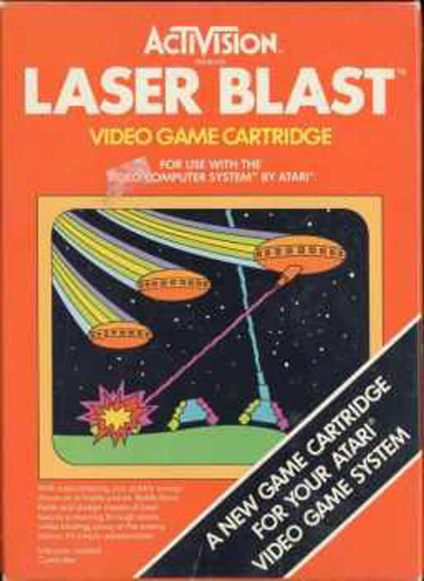 Laser Blast Video Game Back Title by WonderClub