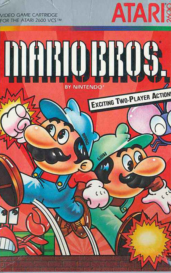 Mario Bros. Video Game Back Title by WonderClub