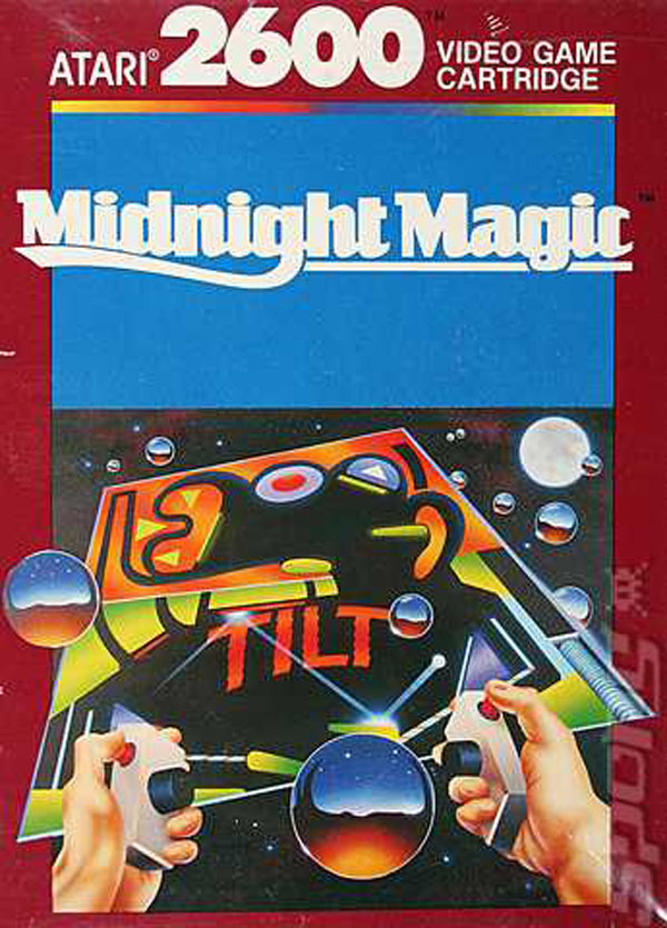 Midnight Magic (Atari 2600) Video Game Back Title by WonderClub